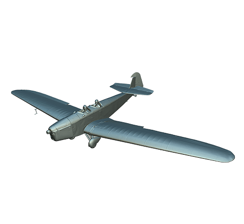 Airplane without texture 3D model