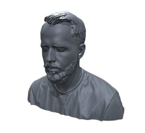 Bearded guy HD 3D model