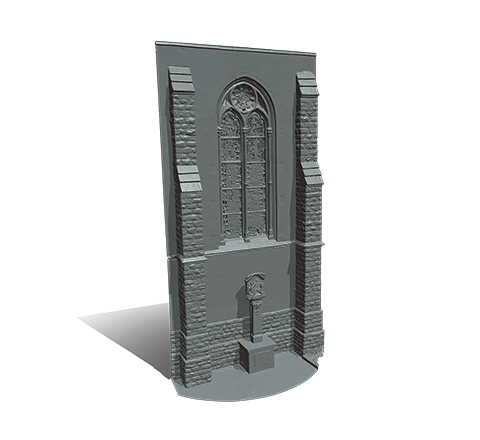 Church façade 3D model