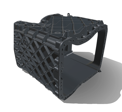 Dual-clutch gearbox HD 3D model