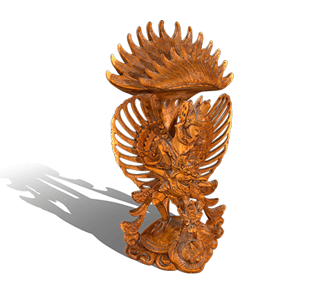Garuda and Vishnu  3D model
