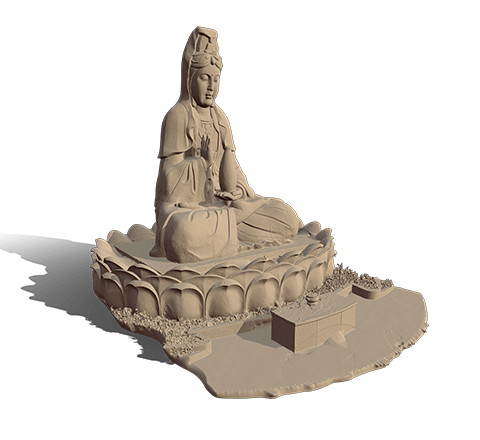 Goddess of Mercy statue 3D model