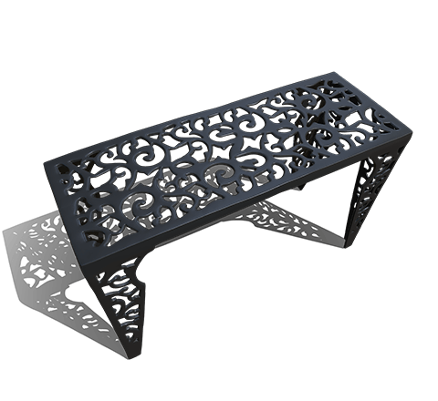 Metal table HD 3D model