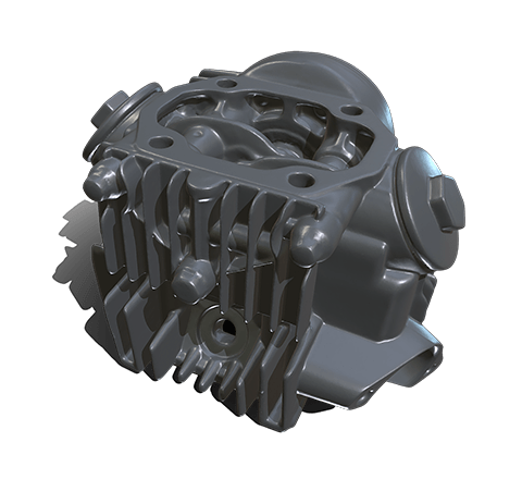 Motorcycle cylinder head HD 3D model