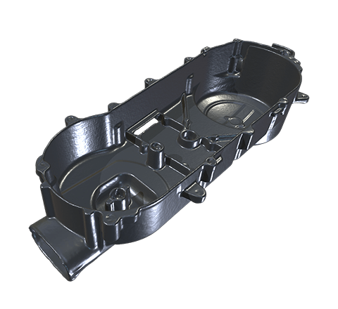 Motorcycle engine cover HD 3D model