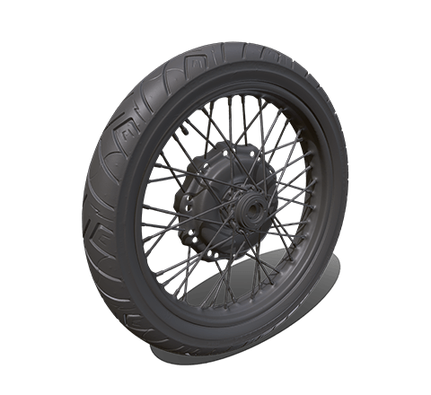 Motorcycle wheel HD 3D model