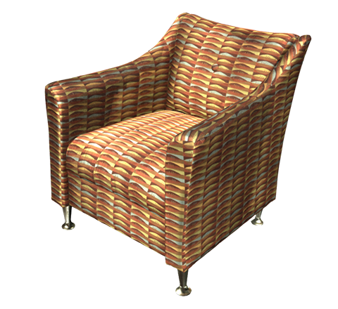 Orange armchair 3D model