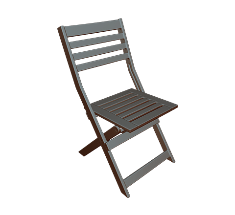 Wooden chair HD 3D model