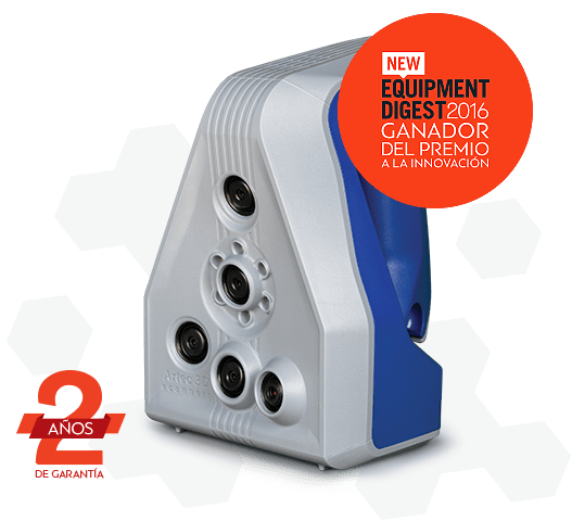 Escáner 3D de alta resolución Spider de Artec