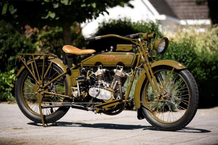 ハーレーダビッドソンの限定版1919年モデルのバイクをオランダで復活 ...